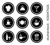 food   restaurant icons | Shutterstock .eps vector #426047626