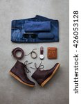 men's casual outfits with man... | Shutterstock . vector #426053128