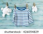baby boy striped shirt  socks... | Shutterstock . vector #426054829