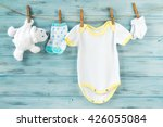 baby boy clothes  onesie with... | Shutterstock . vector #426055084