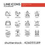 set of modern vector simple... | Shutterstock .eps vector #426055189