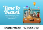 time to travel. vacation.... | Shutterstock .eps vector #426055840