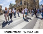 people walking on busy street... | Shutterstock . vector #426065638