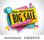 big sale layout design with... | Shutterstock .eps vector #426069478