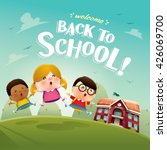 welcome back to school  cute... | Shutterstock .eps vector #426069700