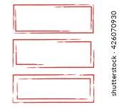 red grunge rectangle frame set | Shutterstock .eps vector #426070930
