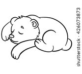 coloring pages. wild animals.... | Shutterstock .eps vector #426073873