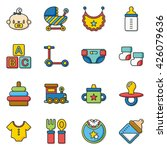 icon set baby vector | Shutterstock .eps vector #426079636