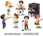 kids playing different...   Shutterstock .eps vector #426081250