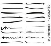 underline stroke set  hand... | Shutterstock .eps vector #426082450