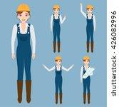 engineer character set vector.... | Shutterstock .eps vector #426082996