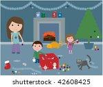 vector illustration of a family ... | Shutterstock . vector #42608425