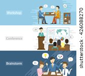 business flat design... | Shutterstock . vector #426088270