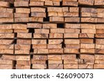 firewood stacked up in a pile... | Shutterstock . vector #426090073