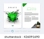 brochure template layout  cover ... | Shutterstock .eps vector #426091690