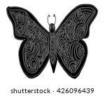 zentangle stylized butterfly.... | Shutterstock .eps vector #426096439