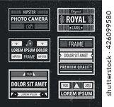vector set of hipster minimal... | Shutterstock .eps vector #426099580