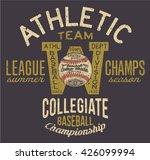 athletic baseball team  vector... | Shutterstock .eps vector #426099994