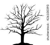 Simple Drawing Tree Silhouette...