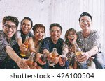 group of asian young people... | Shutterstock . vector #426100504
