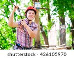 adventure climbing high wire... | Shutterstock . vector #426105970