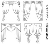vector set of curtains in a... | Shutterstock .eps vector #426113578