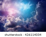 space of night sky with cloud... | Shutterstock . vector #426114034