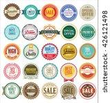 retro vintage badges and labels ... | Shutterstock .eps vector #426121498
