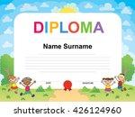 kids diploma certificate... | Shutterstock . vector #426124960