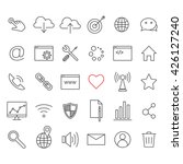 linear internet icons set....