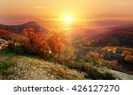 red autumn in mountains | Shutterstock . vector #426127270