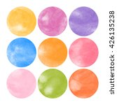 vector watercolor stains | Shutterstock .eps vector #426135238