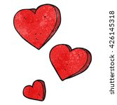 freehand textured cartoon hearts | Shutterstock .eps vector #426145318