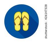 beach slops icon. flip flops... | Shutterstock .eps vector #426147328