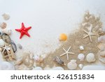 Summer Beach Sea Concept.white...