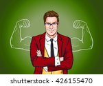 Strong Businessman In  Glasses...
