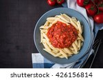 penne pasta with tomato sauce... | Shutterstock . vector #426156814