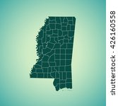 map of mississippi | Shutterstock .eps vector #426160558