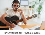 composer drinking take out... | Shutterstock . vector #426161383