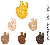 victory emoji hand set of... | Shutterstock .eps vector #426161434