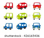 vector mini car   side   front  ... | Shutterstock .eps vector #426165436