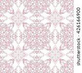 filigree seamless ornate pink... | Shutterstock .eps vector #426166900