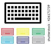 keyboard icon set