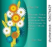 beautiful floral invitation... | Shutterstock .eps vector #426176629
