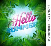 vector hello summer holiday... | Shutterstock .eps vector #426178744