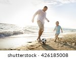 football beach bonding father... | Shutterstock . vector #426185008