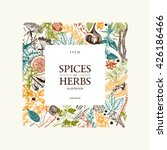 vintage template. ink hand... | Shutterstock .eps vector #426186466