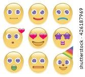 the set of nine smilies | Shutterstock .eps vector #426187969