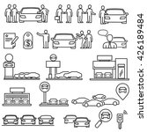 dealership car  icons | Shutterstock .eps vector #426189484