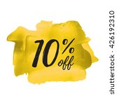 10  off vector text  logo  card ... | Shutterstock .eps vector #426192310